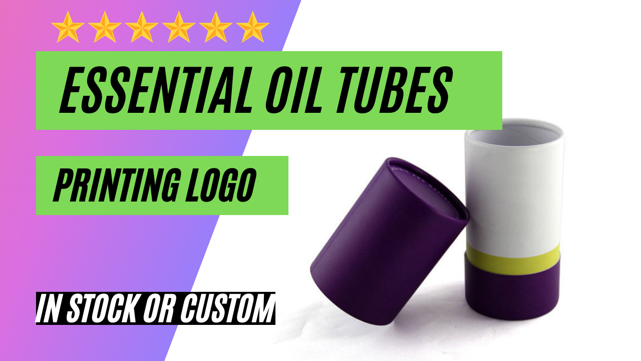 Cardboard Tube Packaging for Essential Oil Bottle