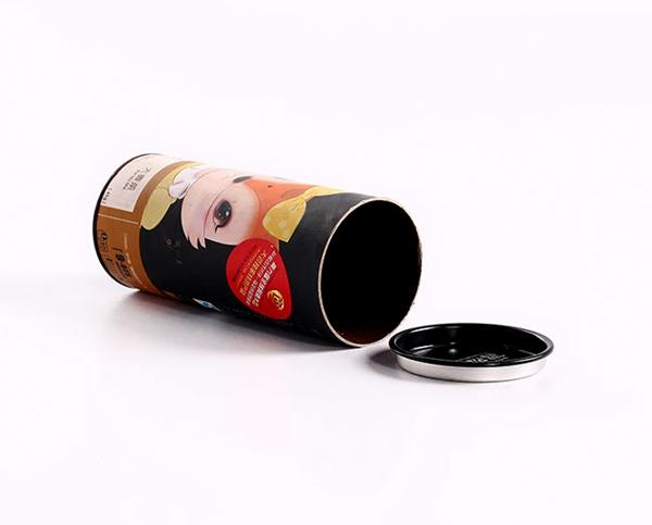 metal lids Cardboard tube packaging
