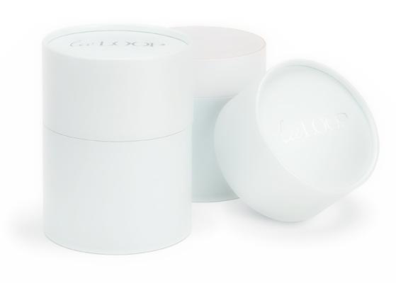 White paper cardboard packaging tubes