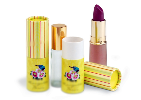 paper tube lipstick and lip balm packaging