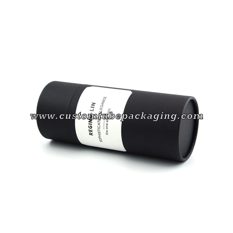 fashion design 12.1mm Black lipstick paper tube packaging