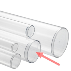 sealed bottom clear plastic round tubes Plastic bottom cover