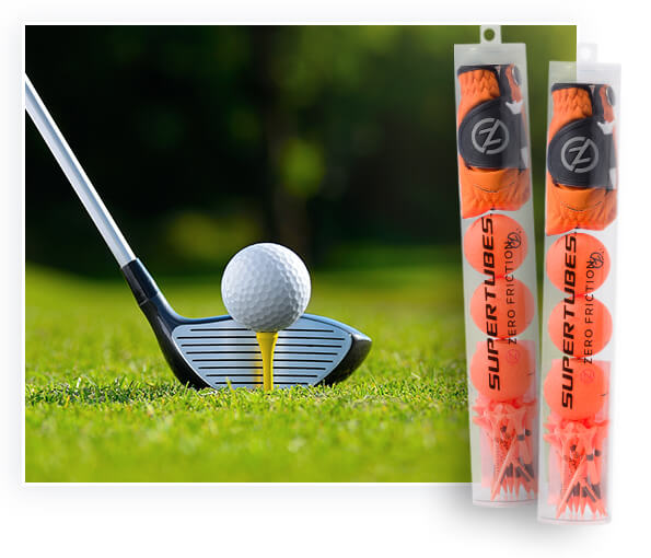 Plastic tube packing is used in golf balls