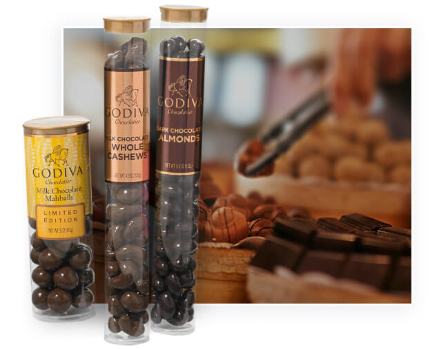 Plastic tube packaging applied in chocolate beans