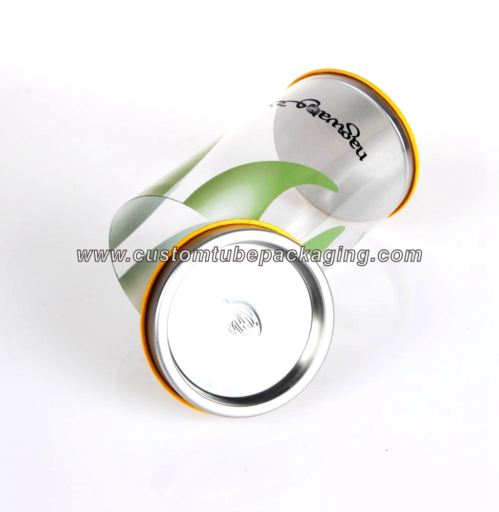round plastic Packaging With Tinplate lid