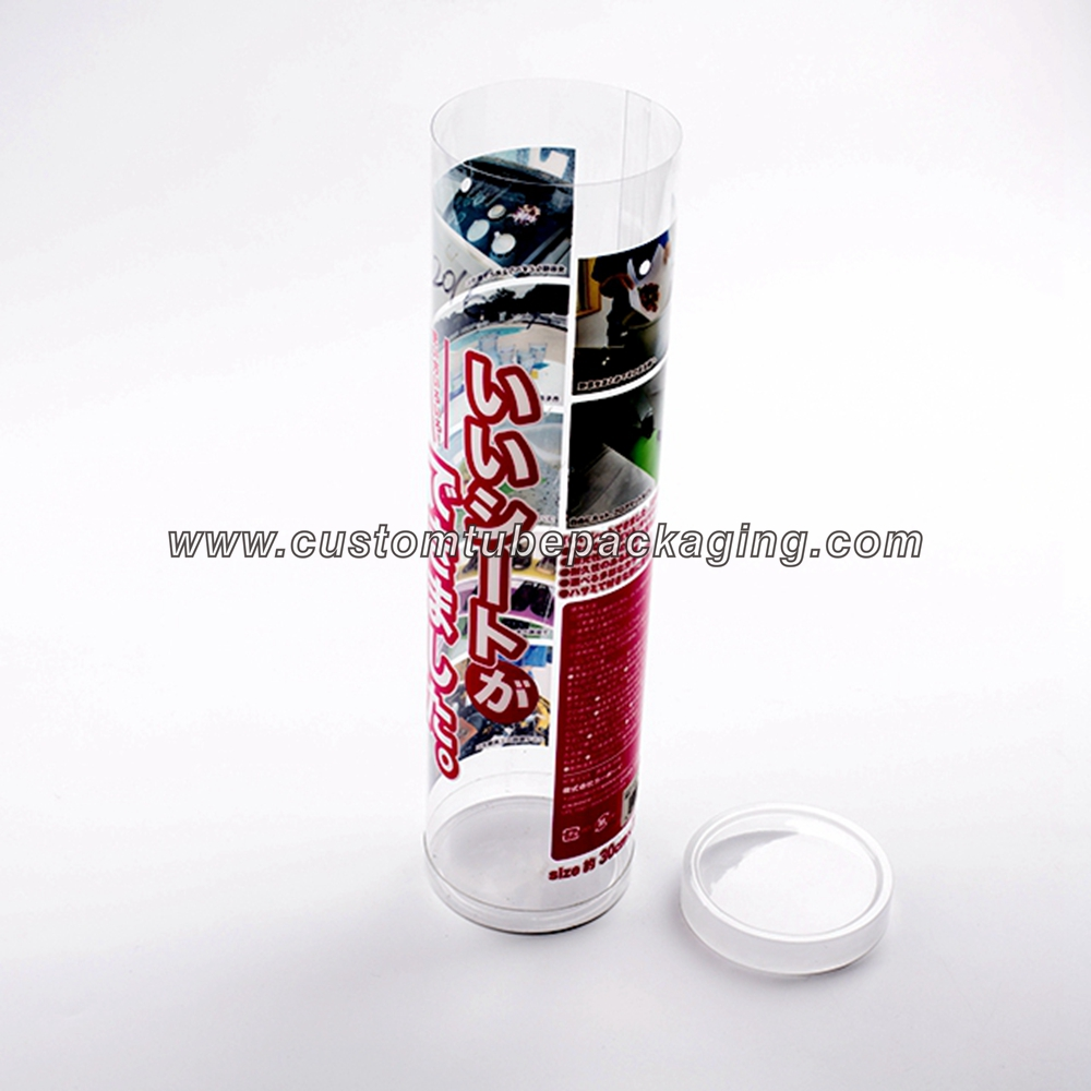 clear plastic cylinder tubes