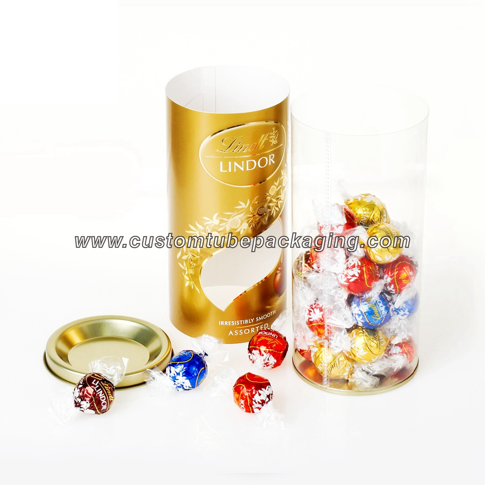 sealed bottom clear plastic round tubes