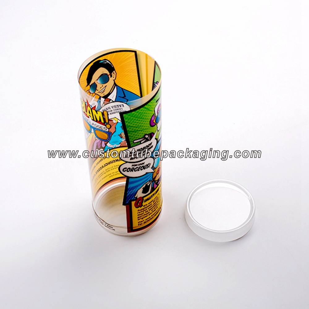Transparent plastic tube packaging