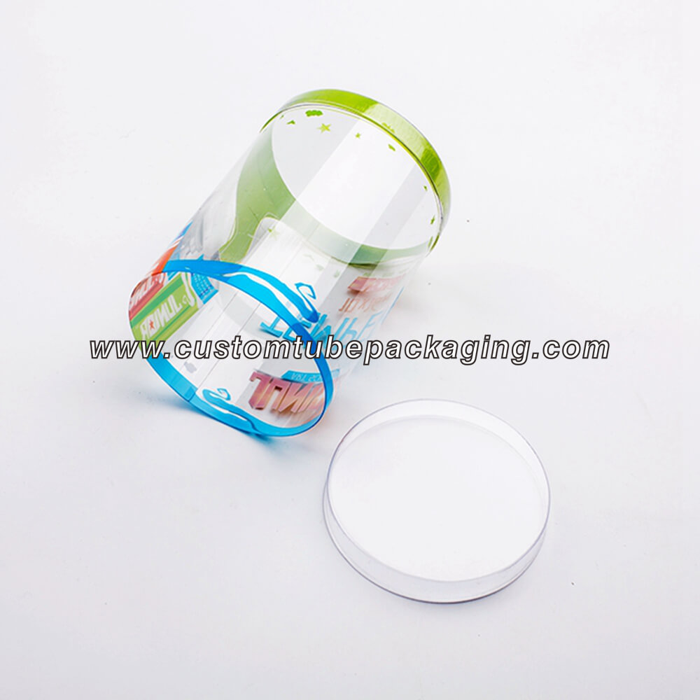 Plastic tube containers blister lid